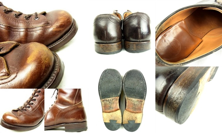 スレ・傷が多いボロボロの靴の画像