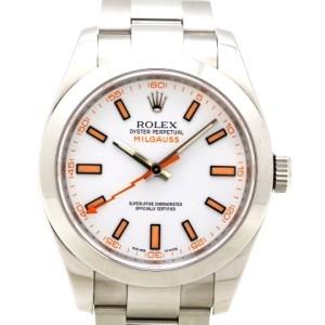 ロレックス-ミルガウス-116400-白