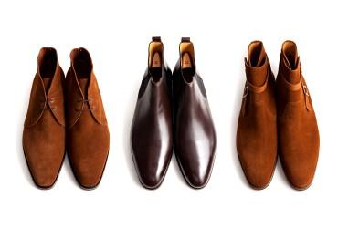 3種類のブーツ(チャッカ・サイドゴア・ジョッパー)