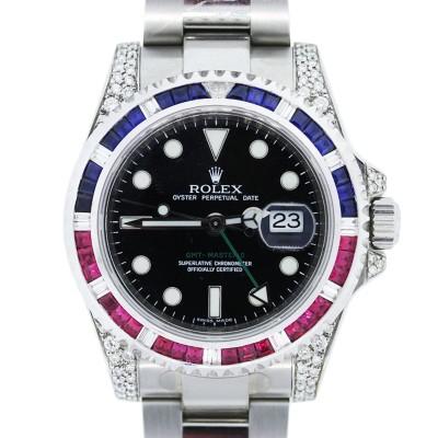ルビー・サファイヤなどの宝石が施された腕時計