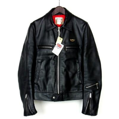 ラムスキンを使用したシングルライダースジャケット