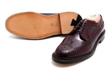 ソールがレザーの靴