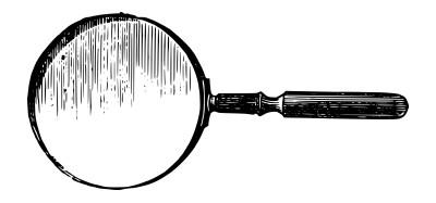虫眼鏡のイラスト