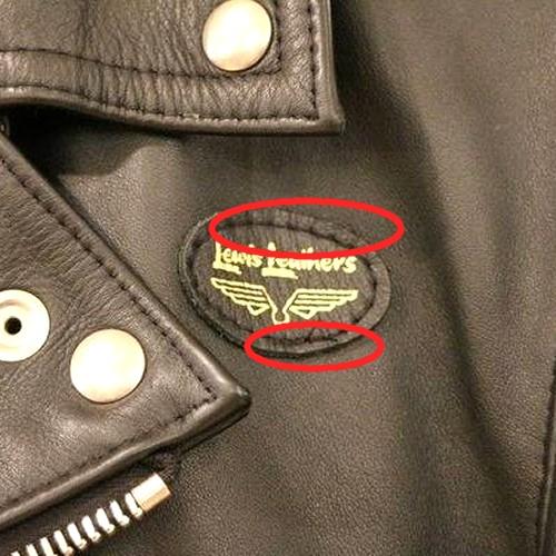 ルイスレザーの胸元パッチの写真